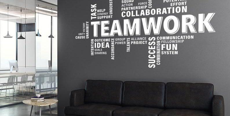 Teamwork Wall Decal, Teamwork Decal, Office Wall Art, Office Decor, Office Wall Decal, Office Wall Decor, Office Decals, Motivational Art